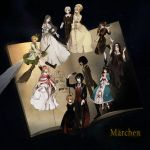 aohigeko apple broom buranko_(marchen) doll dornroschen dual_persona elisabeth_von_wettin elyse flower food fruit highres idoko kurosujuu märchen marchen marchen_von_friedhof marz_von_ludowing mã£â¤rchen mã¤rchen nun_(marchen) red_rose rose schneewittchen sleeping_beauty sound_horizon