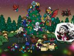 6+boys alucard axe bird book castlevania castlevania:_harmony_of_despair castlevania:_portrait_of_ruin charlotte_aulin chibi christmas christmas_tree cross crossover death_(castlevania) dracula dragon hammer_(castlevania) holy_water jinny jonathan_morris julius_belmondo julius_belmont knife maria_renard multiple_boys multiple_girls night on_back pantyhose pocket_watch richter_belmondo richter_belmont shanoa simon_belmondo simon_belmont soma_cruz turtle watch weapon yoko_belnades