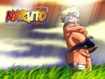 bag blonde_hair blue_eyes folded_arms grass jinchuuriki jumpsuit male naruto short_hair sky solo spiky_hair uzumaki_naruto