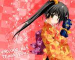 hits japanese_clothes kimono kiriban original petals shinkichi shinkichi_(usadama) wallpaper