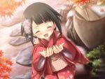 black_hair blush game_cg japanese_clothes kimono kitto_todoku_sumiwataru_asairo_yori_mo short_hair waka yasuyuki