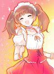 closed_eyes ein_(artist) ein_(long_cake) eyes_closed face hanazono_sakura happy kaichou_wa_maid-sama! maid maid_headdress open_mouth sketch smile twintails