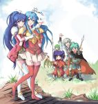 2boys 4girls angry aqua_eyes aqua_hair archer_(fire_emblem) armor blue_eyes blue_hair blush bracelet braid cape dragon_girl dragon_wings earrings echizen eirika ephraim fire_emblem fire_emblem:_seima_no_kouseki fire_emblem_sacred_stones from_behind gloves grass gray_hair green_eyes green_hair grey_hair heart innes jewelry lance long_hair multiple_boys multiple_girls myrrh open_mouth pegasus_knight polearm ponytail prince princess purple_hair red_eyes sandals short_hair skirt tana thigh_boots thighhighs translated translation_request twin_braids vanessa_(fire_emblem) very_long_hair weapon wings yuri