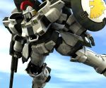 gun gundam gundam_wing mecha no_humans rifle shield sky solo tallgeese weapon