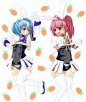ame animal_ears rabbit_ears siesta_410 siesta_45 thigh-highs umineko_no_naku_koro_ni