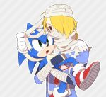 blonde_hair blue_eyes braid carrying gloves green_eyes nintendo red_eyes reverse_trap sheik sonic sonic_the_hedgehog super_smash_bros. surcoat the_legend_of_zelda turban
