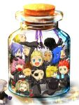 axel beard black_hair blonde_hair blue_eyes blue_hair bottle bottle_meme_(pixiv) brown_hair cork demyx eyepatch facial_hair flower food gloves glowing glowing_eyes green_eyes hair_over_one_eye ice_cream jar kingdom_hearts kingdom_hearts_358/2_days kingdom_hearts_chain_of_memories larxene lexaeus luxord marluxia okitune-sama orange_eyes organization_xiii pink_hair purple_eyes purple_hair red_hair red_rose redhead riku_replica rose roxas saix scar silver_hair sitting sitting_on_person sleeping vexen violet_eyes xaldin xemnas xigbar xion xion_(kingdom_hearts) zexion