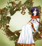74 dress fire_emblem fire_emblem:_seisen_no_keifu mana_(fire_emblem) purple_eyes purple_hair short_hair smile solo violet_eyes