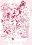 6+girls akimoto_komachi aono_miki butterfly_hair_ornament cure_aqua cure_berry cure_black cure_bloom cure_blossom cure_dream cure_egret cure_lemonade cure_marine cure_mint cure_passion cure_peach cure_pine cure_rouge cure_white fresh_precure! futari_wa_precure futari_wa_precure_max_heart futari_wa_precure_splash_star hair_ornament hanasaki_tsubomi heartcatch_precure! higashi_setsuna highres hyuuga_minori hyuuga_saki kamikita_futago kasugano_urara kiryuu_kaoru kiryuu_michiru kujou_hikari kurumi_erika magical_girl milky_rose mimino_kurumi minazuki_karen mishou_mai misumi_nagisa momozono_love monochrome multiple_girls natsuki_rin official_art pink precure precure_all_stars shiny_luminous yamabuki_inori yes!_precure_5 yukishiro_honoka yumehara_nozomi