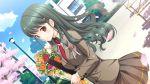 flower flowers game_cg hatsukoi_sacrament long_hair purple_software red_eyes seifuku