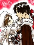 assassin's_creed assassin's_creed axis_powers_hetalia chibitalia_(hetalia) crossover ezio_auditore_da_firenze hat oekaki ponytail ribbon
