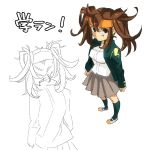 brown_hair endou_mamoru genderswap headband inazuma_eleven inazuma_eleven_(series) kayako_(tdxxxk) long_hair school_uniform twintails