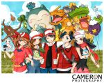 aipom alternate_costume artist_self-insert bag bandana baseball_cap black_hair blue_eyes blue_hair blush_stickers brown_eyes brown_hair budew charizard chikorita chimecho chinchou cloud clouds color dragon drifloon forced_smile gloves gold_(pokemon) gold_(pokemon)_(remake) grass hand_on_hip haruka_(pokemon) hat heart hikari_(pokemon) hips jeans joanna_(mojo!) kamuri_(pokemon) kotone_(pokemon) long_hair ludicolo mew misdreavus myrollingstar open_mouth pikachu piplup pokemon pokemon_(game) pokemon_diamond_and_pearl pokemon_dppt pokemon_gsc pokemon_heartgold_and_soulsilver pokemon_hgss pokemon_red_and_green pokemon_rgby pokemon_rse pokemon_ruby_and_sapphire poketch red_(pokemon) red_(pokemon)_(classic) rotom scarf signature skirt sky smile snorlax sudowoodo surskit torchic traditional_media twintails watch watermark wink wristwatch