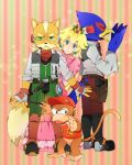 blonde_hair blue_eyes crown diddy_kong donkey_kong_(series) earrings falco_lombardi fox_mccloud furry gloves green_eyes hat headset jewelry long_hair nintendo princess_peach scarf star_fox super_mario_bros. super_smash_bros. yawning