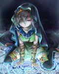 1girl dress eyepatch magic_circle official_art original solo tenkuu_no_crystalia thigh-highs yukinokoe