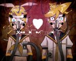 code de heart kagamine_len kagamine_rin logo siblings tears twins vocaloid