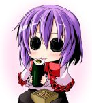 :p chibi ichimi licking makizushi masu nagae_iku no_hat no_nose purple_hair solid_circle_eyes solo sushi tongue tongue_out touhou