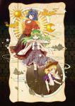 absurdres highres kochiya_sanae mishaguji moriya_suwako multiple_girls snake socha touhou white_snake yasaka_kanako