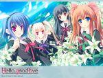 flower flowers group hello_good-bye hiiragi_koharu moekibara_fumitake rindou_natsume saotome_suguri seifuku yukishiro_may