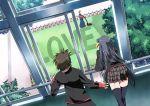 grass k3_(dolphin_brain) kurugaya_yuiko lawnmower little_busters! miyazawa_kengo naoe_riki school_uniform surprised window