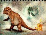 creepy faux_traditional_media fire light-schizophrenia pokemon realistic tail tail-tip_fire