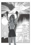 boxing boxing_gloves comic crossover highres hong_meiling king_of_fighters krizalid m.u.g.e.n monochrome mugen_(game) parody senmi_aki silent_comic sweat touhou
