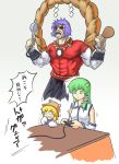 crossover god_of_war kochiya_sanae kratos moriya_suwako playing_games touhou yasaka_kanako