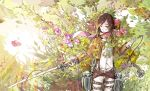 belt brown_hair flower jacket mikasa_ackerman shingeki_no_kyojin short_hair sword thigh_strap weapon yanzhan