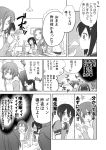 blush comic cup hirasawa_ui hirasawa_yui k-on! kotobuki_tsumugi long_hair monochrome nakano_azusa picocopi spit_take spite_take spitting suzuki_jun tainaka_ritsu translated translation_request