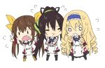 :t angry bad_id black_hair blonde_hair boots bow brown_hair cecilia_alcott chibi curly_hair drill_hair fang fang_lin_yin flying_sweatdrops friden04 fuaa_(friden04) hair_bow hairband huang_lingyin infinite_stratos jealous long_hair multiple_girls o_o open_mouth ponytail pout ribbon school_uniform shinonono_houki simple_background thighhighs twintails very_long_hair