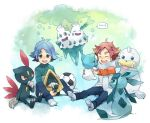 baibanira ball crossover cubchoo dewgong fubuki_atsuya fubuki_shirou glaceon hiyokko_ep inazuma_eleven inazuma_eleven_(series) pokemon pokemon_(game) pokemon_black_and_white pokemon_bw scarf seel siblings sneasel snorunt snow soccer_ball telstar twins vanilluxe