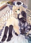 blonde_hair blunt_bangs boots dress gloves gosick gothic_lolita hat lolita_fashion long_hair petticoat slip_skirt solo tatekawa_mako very_long_hair victorica_de_blois victorique_de_broix wnb_mark