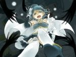 blue_eyes blue_hair cape dual_persona gloves hair_pull kurumi_(ikura125) magical_girl mahou_shoujo_madoka_magica miki_sayaka multiple_hands outstretched_hand spoilers sword tears thighhighs weapon
