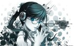 blue_eyes glasses headphones jpeg_artifacts koutaro