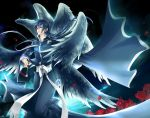 alone_hades cape flower male multiple_wings petals rose saint_seiya saint_seiya:_the_lost_canvas solo wings xhouz