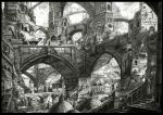 arch architecture bridge city cityscape graphite_(medium) highres mitauzo monochrome nib_pen_(medium) no_humans original scenery stairs traditional_media
