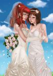 flower gunbuster jung_freud takaya_noriko top_wo_nerae! wedding yuri
