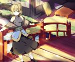 blonde_hair bridge green_eyes hasebe_yu hasebe_yuusaku leaning mizuhashi_parsee river smile solo touhou tree