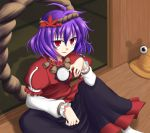 blue_pony red_eyes short_hair touhou violet_hair yasaka_kanako