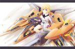 charlotte_dunois gun infinite_stratos lancefate letterboxed petals purple_eyes rafale_revive_custom_ii solo uniform weapon