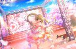 blonde_hair blush brown_eyes dress idolmaster_cinderella_girls_starlight_stage long_hair smile spring_(season) yokoyama_chika