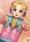 blue_eyes dead_rising dead_rising_2 headphones highres jacket katey_greene ponytail yunomi_(yunomi_laboratory)