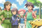 closed_eyes electabuzz maylene_(pokemon) pokemoa pokemon pokemon_(anime) pokemon_(creature) reiji_(pokemon) shinji_(pokemon)