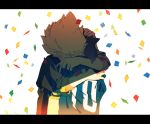 brown_eyes confetti endou_mamoru gouenji_shuuya hug inazuma_eleven inazuma_eleven_(series) jacket letterboxed multiple_boys shippo_(skink) short_hair skink soccer_uniform