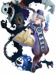 book elizabeth elizabeth_(persona) hat hi-ho- highres jack_frost megaten pantyhose persona persona_3 pixie pixie_(megami_tensei) short_hair sleeveless thanatos thanatos_(p3) white_hair wings yellow_eyes