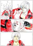 amaterasu capcom dante devil_may_cry kurosu licking marvel_vs_capcom marvel_vs_capcom_3 okami ookami_(game) translation_request