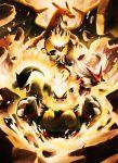 blaziken charizard emboar epic fire highres infernape no_humans pokemon pokemon_(creature) pokemon_(game) pokemon_black_and_white pokemon_bw typhlosion yamaguchi_yoshimi you_gonna_get_raped