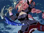 densetsu_no_yuusha_no_densetsu kuu_orla long_hair panties pink_hair scythe skirt thighhighs underwear