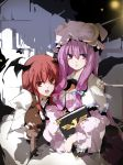 head_wings highres koakuma patchouli_knowledge sakura_sora touhou wings