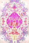 bow hair_bow kaname_madoka magical_girl mahou_shoujo_madoka_magica patterned pink_hair red_eyes short_hair soul_gem todot twintails